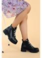 Ayakland Ayakland 2463-2100 Cilt 4cm Fermuarlı Termo Kadın Bot Ayakkabı Siyah